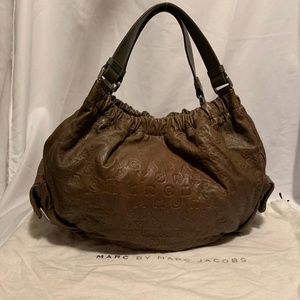 Marc by Marc Jacobs Embossed Taupe Shoulder Bag
